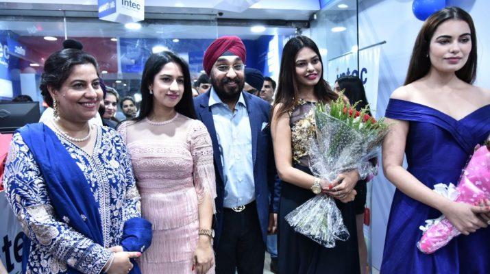 Gunita - Amarjit Singh - CEO Intec with actress Rashmi Jha - Srishti Rana - Miss Asia Pacific 2013