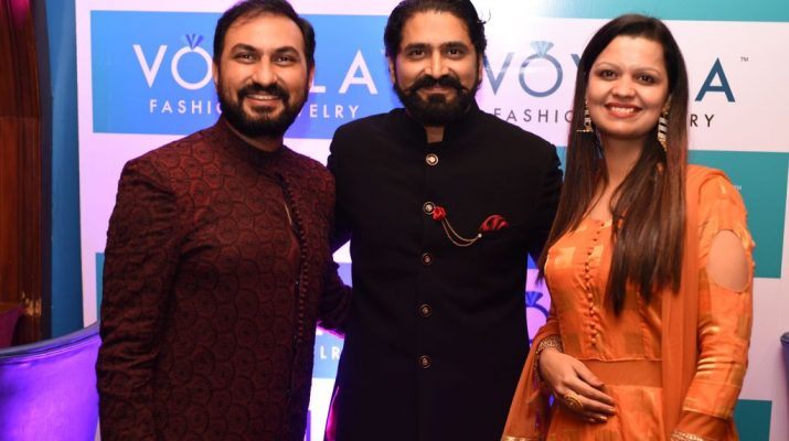 L-R Abhishek Tiwari - Vishwas Shringi Founder Voylla and Surabhi Tiwari - TAJ Mahal Collection