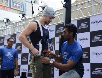 Tiger Shroff gets ready to take Skechers Performance GoRun 5 Challenge