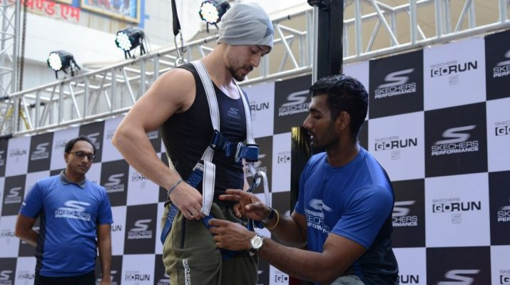 Tiger Shroff gets ready to take Skechers Performance GoRun 5 Challenge