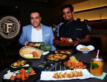 Zorawar Kalra and Chef Saurabh Udinia at the launch of Farzi Cafe