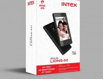 Airtel - affordable 4G smartphones - Intex Aqua LIONS N1