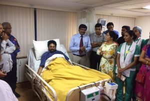 Doctors at Fortis Hospitals - Cunningham road successfully treated a severe dengue struck patient 2
