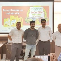 Freedom Refined Sunflower Oil announcesthe 1st Month winners of Freedom JARCAR OFFER