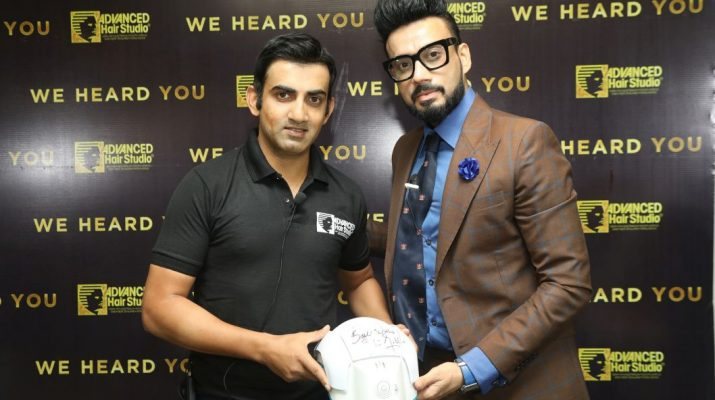 Gautam Gambhir launches Advanced Hair Studios latest cutting edge procedures in the Indian market 2