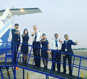 IndiGo commmences ATR operations_Captain and 6E crew readying to take off