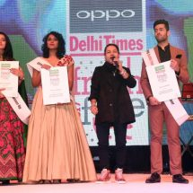 Viren Tak & Seemran Pookulangara win big at the 10th edition of the OPPO Times Fresh Face in the Delhi city finale