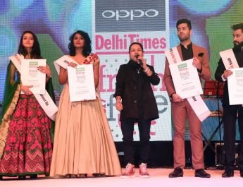 Kailash Kher - Viren Tak and Seemran Pookulangara win 10th edition of the OPPO Times Fresh Face in the Delhi city finale