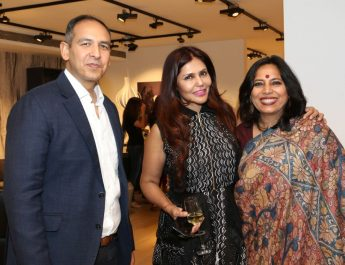 Navin Khanna - director of BoConcept India - Nisha JamVwal - Lawyer Abha Singh - second Flagship store launch