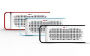 Portronics - SoundGrip - Portable Bluetooth Stereo Speaker With Mic and Aux