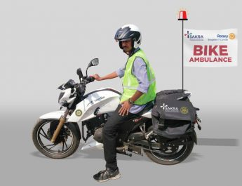 Sakra World Hospital and Rotary Bengaluru IT Corridor introduces motorcycle-based First-Responder Service