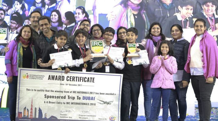 The Team Tech Panthers from The Shri Ram School - Aravali - International Robotronics Competition