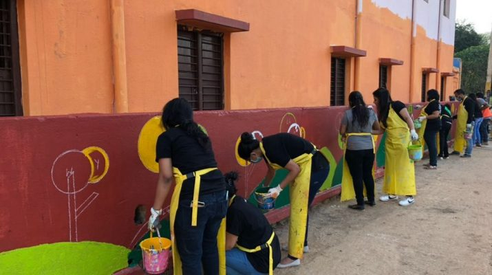 Ugly Indians spruce up a Government School along with Embassy and WeWork