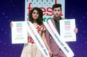 Winners of Oppo Times Fresh Face 2017 - Delhi city finale