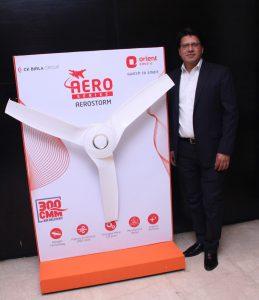 Atul Jain with Aerostorm Fan