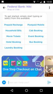 Federal Bank - Niki launch a Chatbot based virtual assistant in FedMobile Banking application 2