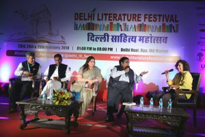 Ajay Sharma - Dr Udit Raj - Meenakshi Lekhi - Ashwin Sanghi - Manjula Narayan - Delhi Literature Festival - 6th edition