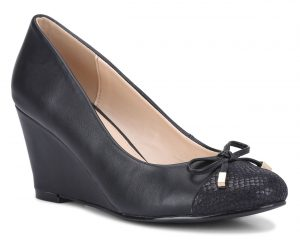 Bata Insolia Weave Collection_Black Wedge Heels_Rs 2499