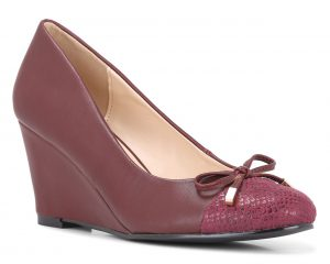 Bata Insolia Weave Collection_Burgundy Wedge Heels_Rs 2499