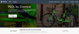 Bicycle for rent in India - Zoomcar - cycle sharing service PEDL at IIT Bombay