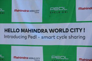 Mahindra World City - Chennai introduces eco-friendly - intra-city bicycle sharing - PEDL