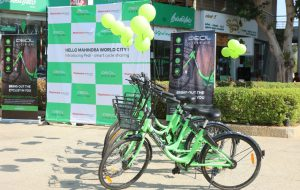 Mahindra World City - Chennai introduces eco-friendly - intra-city bicycle sharing PEDL