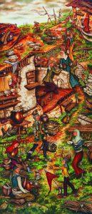 Milburn Cherians astounding artwork on display in New Delhi - SKY ABOVE - 106X46CMS