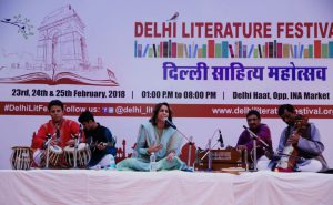 Minu Bakshi Performing at Delhi Literature Festival