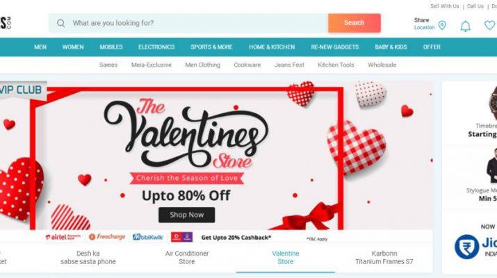 ShopClues announces Valentines day sale
