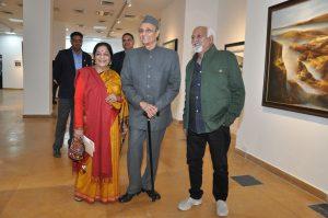 Veteran artist Vinod Sharma showcasing Mindscape by Creativity Art Gallery