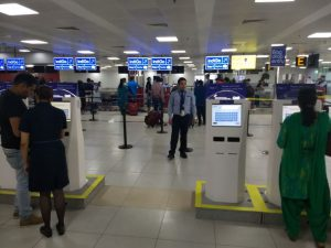 IndiGo transitions one third of domestic flights in Delhis Terminal 2 without a hitch - Self check-in kiosks