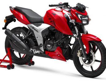 TVS Motor Company Ltd launches the new 2018 TVS Apache RTR 160 4V