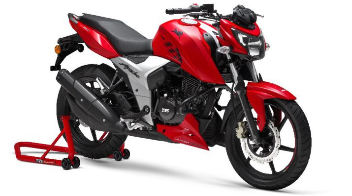 TVS Motor Company Ltd launches the new 2018 TVS Apache RTR 160 4V