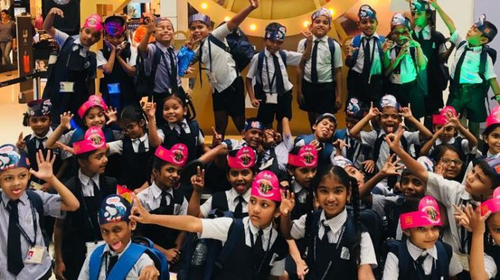 Akanksha foundation children at Oberoi Mall - 5