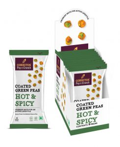 Cornitos Hot and Spicy Coated Green Peas in all new packaging