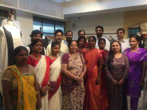 Dr Priya Somaiya with artisans - Usha International launches sustainable fashion label Usha Silai exclusively at OGAAN