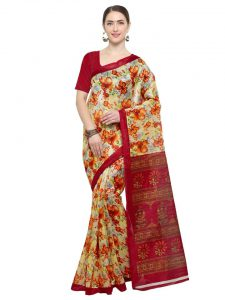 Floral Saree - Available at ShopClues - MEIA store