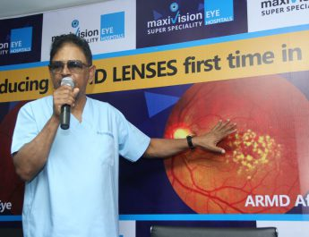 Founder of MaxiVision Eye Hospitals - Successfully carries out ARMD surgery in Hyderabad