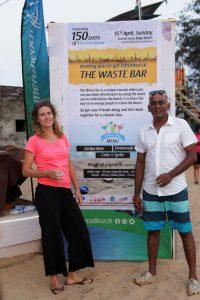 Noreen van Holstin and Ravi Shankar CEO - Drishti Marine at the closing of TeraMeraBeach campaign at Baga Beach