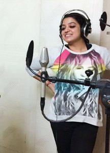Pallavi Bharti in studio