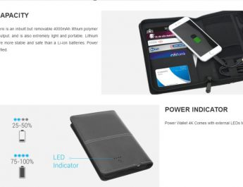 Portronics Launches Power Wallet 4K - Passport Holder with in-built 4000 mAh Powerbank