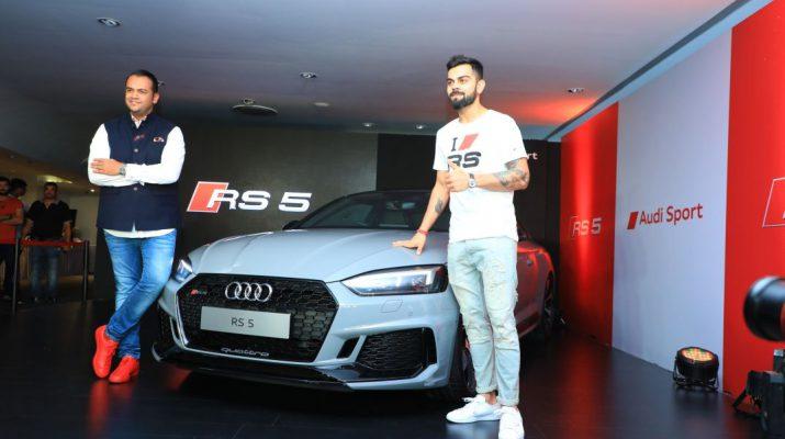 Rahil Ansari with Indian Cricket Team Captain Virat Kohli unveiling the Audi RS 5 Coupe in Bengaluru 2