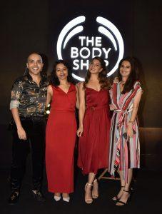Shaan Muttathil - Aradhika Mehta - Brand Ambassador Jacqueline Fernandez - Sanjali Giri - The Body Shop India