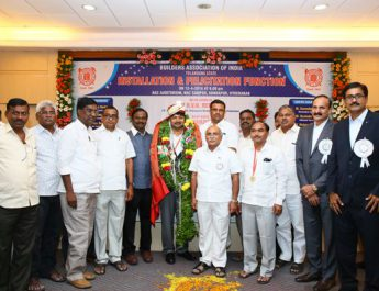 Sri DVN Reddy Elected as Telangana state chairman of Builders Association of India for the 2018-19 2