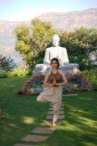 Yoga at buddha