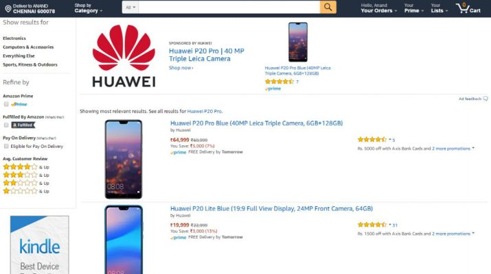 Special offers on the stunning Huawei P20 Pro and P20 lite