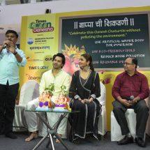 Anushka Sharma and Varun Dhawan launch Green Ganesha campaign at Oberoi Mall