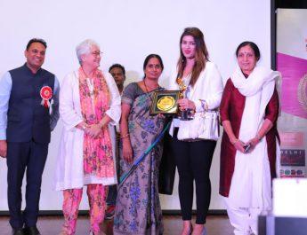 L-R Sarvesh Kr Tiwari - Nafisa Ali - Asha Devi and Aishwarya Bansal - Nirbhaya Jyoti Trust