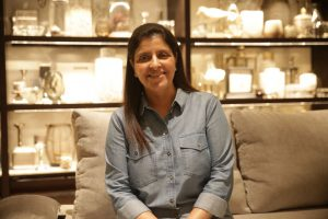Mrs Charu Munjal - MD OMA Living - The Flagship Store at M G Road - New Delhi