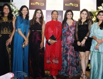 Payal Jaiswal with celebrities at the Launch of MAITREYA By Payal